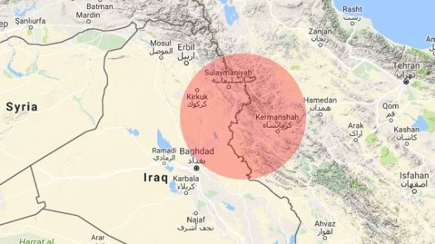Magnitude 7.2 quake  strikes near Halabjah, Iraq