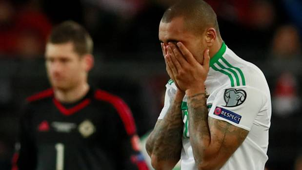 Josh Magennis was in tears at the final whistle