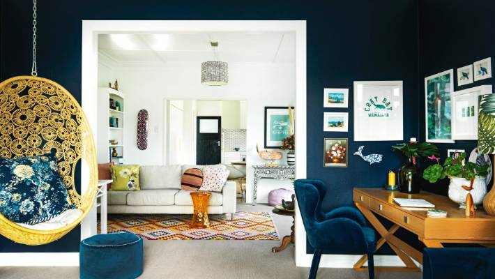 Resene Karen Walker Celestial Blue Was Used For This Living Area In Victoria Bibby S