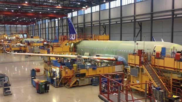 The Airbus factory in Hamburg