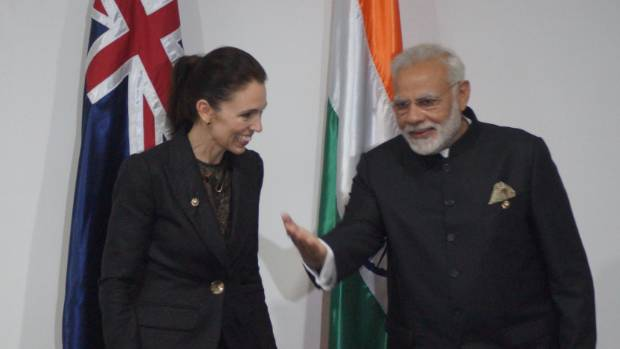 Jacinda Ardern meets Indian prime minister Narendra Modi at APEC