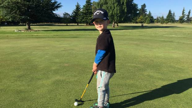 golf is the game for 4 year old alex kimber. Black Bedroom Furniture Sets. Home Design Ideas