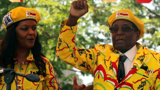 Embattled Zimbabwe President Robert Mugabe in first public appearance