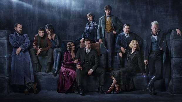 The cast of Fantastic Beasts The Crimes of Grindelwald set in the world of Harry Potter