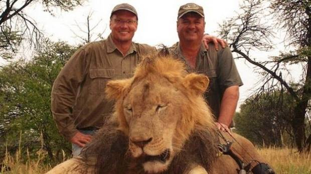 Walter Palmer Left Poses With The Corpse Of Cecil Lion Cecils Death