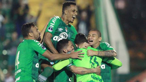 Chapecoense celebrates avoiding relegation one year after air tragedy