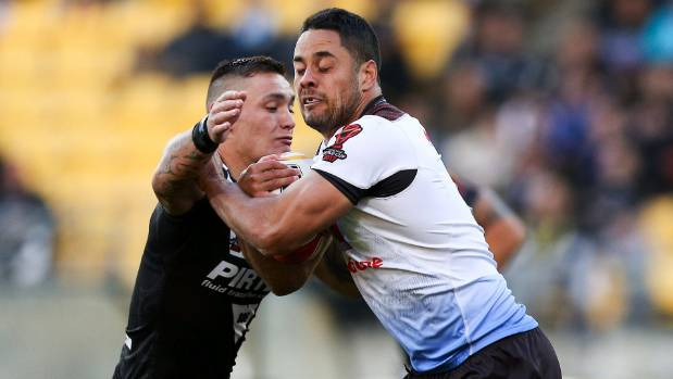 Fiji five-eighth Jarryd Hayne didn't take on the Kiwis defence too frequently