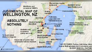 Map Of Wellington New Zealand.Hipsters Bogans And Football Losers A Judgmental View Of