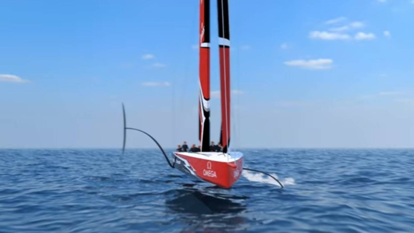 Team New Zealand reveal foiling monohull concept design ...