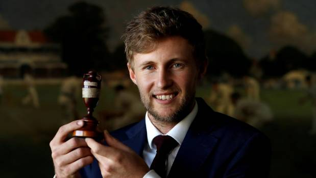 England captain Joe Root with the urn they won back from Australia in 2015 Ashes series.