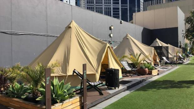 Just your average c&ground in the middle of the city. & Weekender: Rooftop glamping in Melbourne | Stuff.co.nz