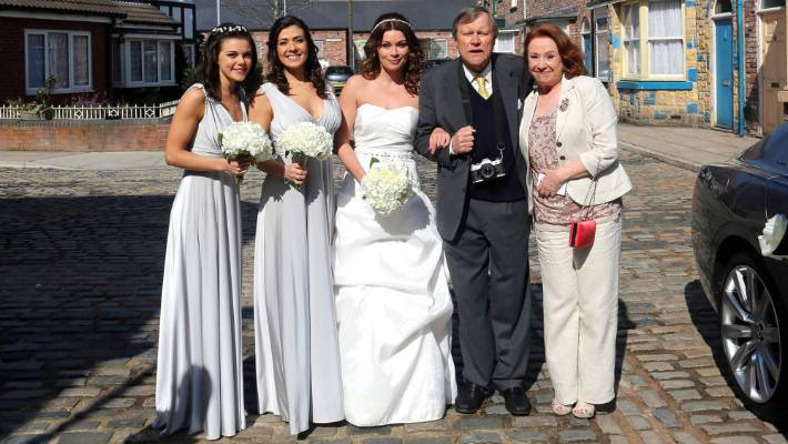 Carla Connor S Wedding Party On Coronation Street Includes Kate Faye Brookes Michelle
