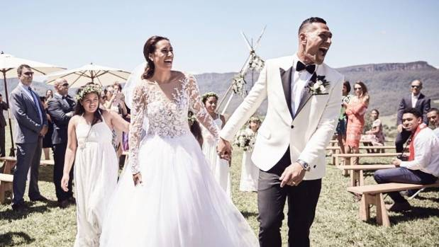 Maria tutaia and israel folau share pictures from their wedding maria tutaia and wallabies player israel folau held a private wedding last week junglespirit Image collections