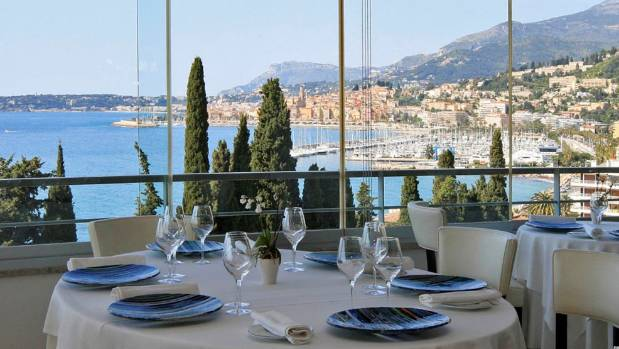 Mirazur, in Menton, France, is a charming destination at the foot of mountains overlooking the Mediterranean, just a ...