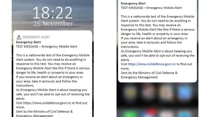 New Civil Defence mobile emergency alert passes the test