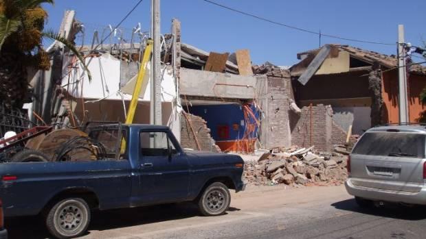 Damage in and around Santa Cruz, Chile, following the 2010 earthquake.