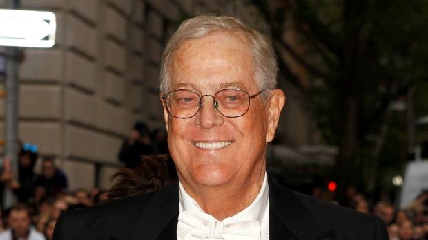 David Koch is one of the backers along with his brother Charles of a US$2 billion bid for Time