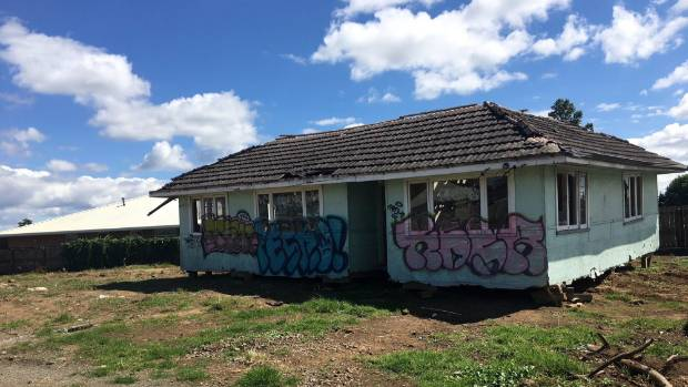 The derelict house was dumped on a vacant Takanini site earlier this month.