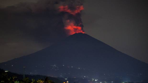 Bali's Mount Agung volcano erupts for second time in a week