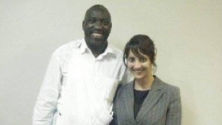Green MP Golriz Ghahraman pictured with Rwandan singer-songwriter Simon Bikindi, who was convicted of inciting genocide in his country.