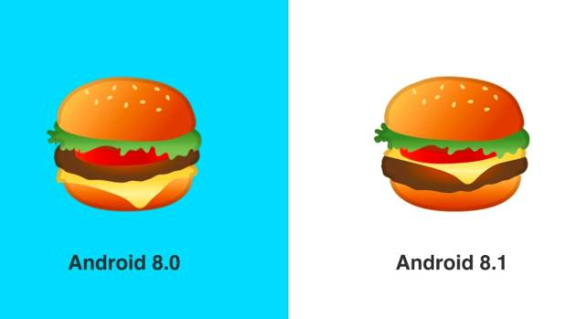 Google Has Fixed Its Burger Emoji In Android 8.1