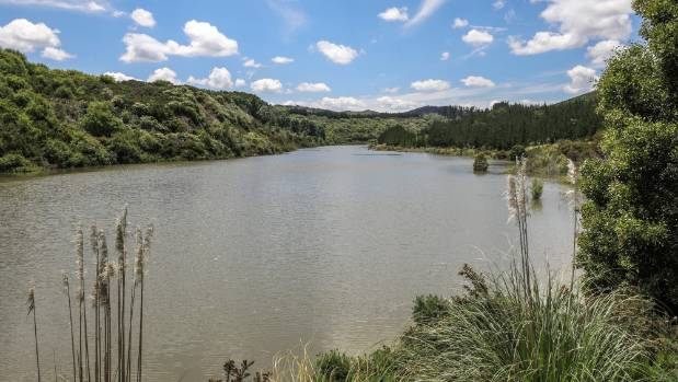 Murray Allen has plans to turn the property into a 60m deep lake.
