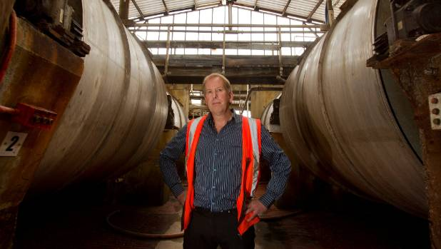 Gelita factory manager Gary Monk in the Christchurch factory in 2014.