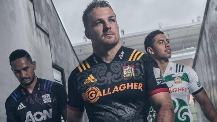 1234ae06645 All Blacks flanker Sam Cane leads the way in the new-look Chiefs jerseys for
