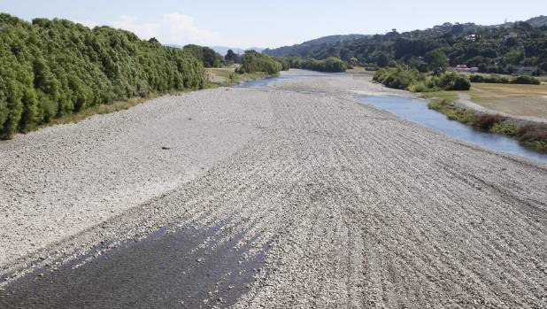The Hutt River - a major source of Wellington's drinking water - is extremely low for this time of year.