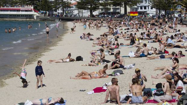 The first day of summer saw Wellington's Oriental Bay Beach packed with sun-seekers during a prolonged spell of fine weather.