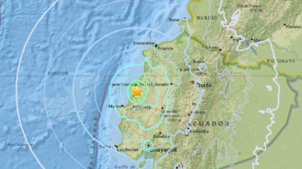 0 natural disaster strikes coast of Ecuador