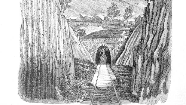 Lyttelton Rail Tunnel, seen here in the old Illustrated Press,  opened in 1867 to join Christchurch and the port.