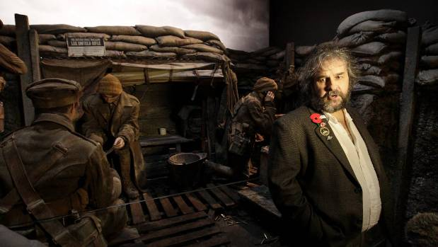 Film maker Peter Jackson at the WWI exhibition he built at the Dominion Museum which marked the 100 anniversary of the