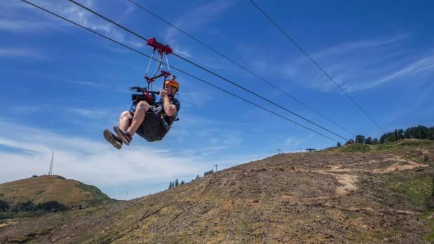 The zipline is suspended up to 180 metres above the valley floor.