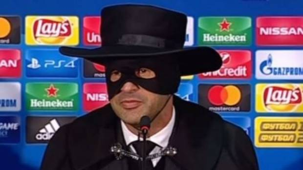 Shakhtar coach Paulo Fonseca delivered on his promise to dress up as Zorro if his team made the last 16