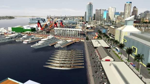 What the favoured option for the America's Cup syndicate bases on Auckland's waterfront looks like in digital form.