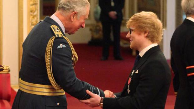 Ed Sheeran Received MBE From Prince Charles For Contributions To Music & Charity