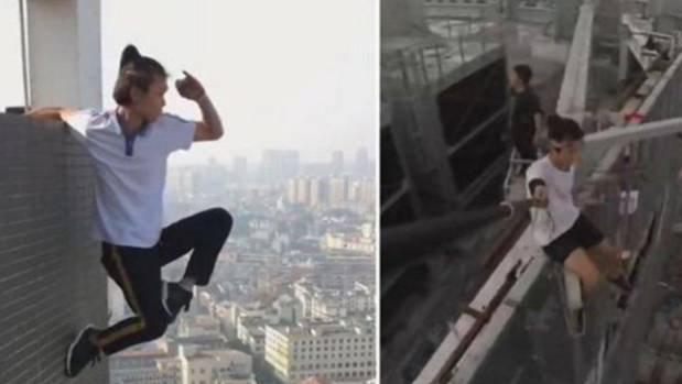 Chinese daredevil rooftopping star falls 62 storeys to his death