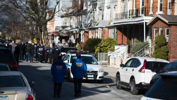 Police block off the street in the Brooklyn borough of New York where officials say Akayed Ullah was living