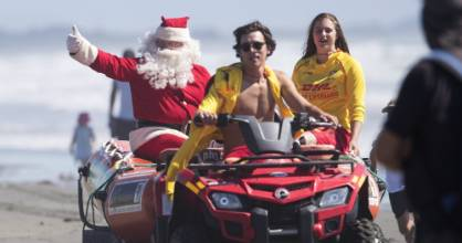 Santa will arrive at the New Brighton parade by boat on Saturday.