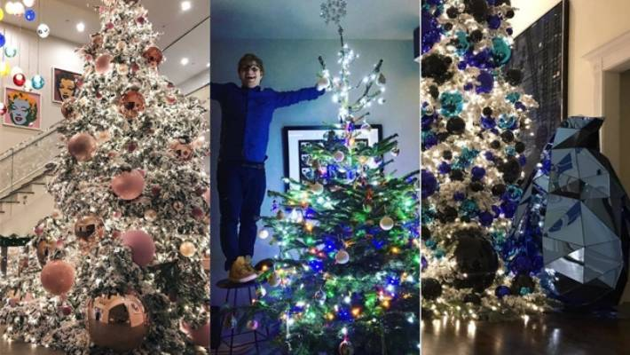Celebrity Christmas trees: the best for 2016 - Heat