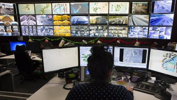 The centre monitors and manages traffic from Taupo to the bottom of the South Island.
