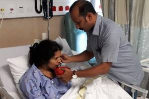 Subi Babu, 33, is recovering more slowly than her husband and mother-in-law.