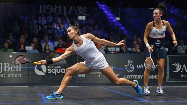 Joelle King was taken down in the quarterfinals at the squash world champs in Manchester.