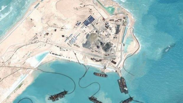 Beijing 'continues building on S. China Sea isles'