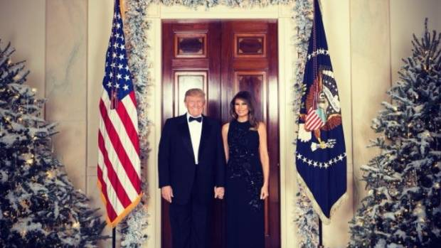 Donald and Melania release first official Christmas portrait