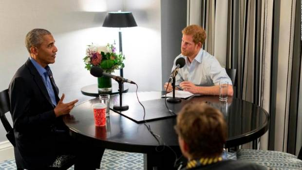 Prince Harry jokes around with Barack Obama in radio interview
