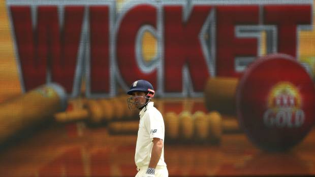 The writing appeared to be on the wall for England opening batsman Alastair Cook.