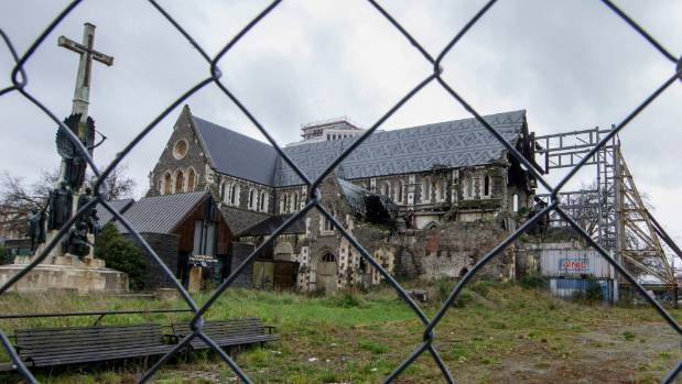 The Christ Church Cathedral has been sitting derelict in central Christchurch for nearly seven years.