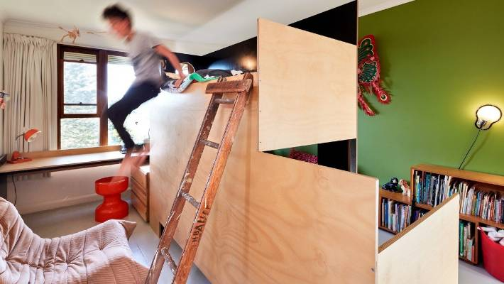 Cool Bunk Beds As A Centre Divider Create Two Rooms From One Stuff